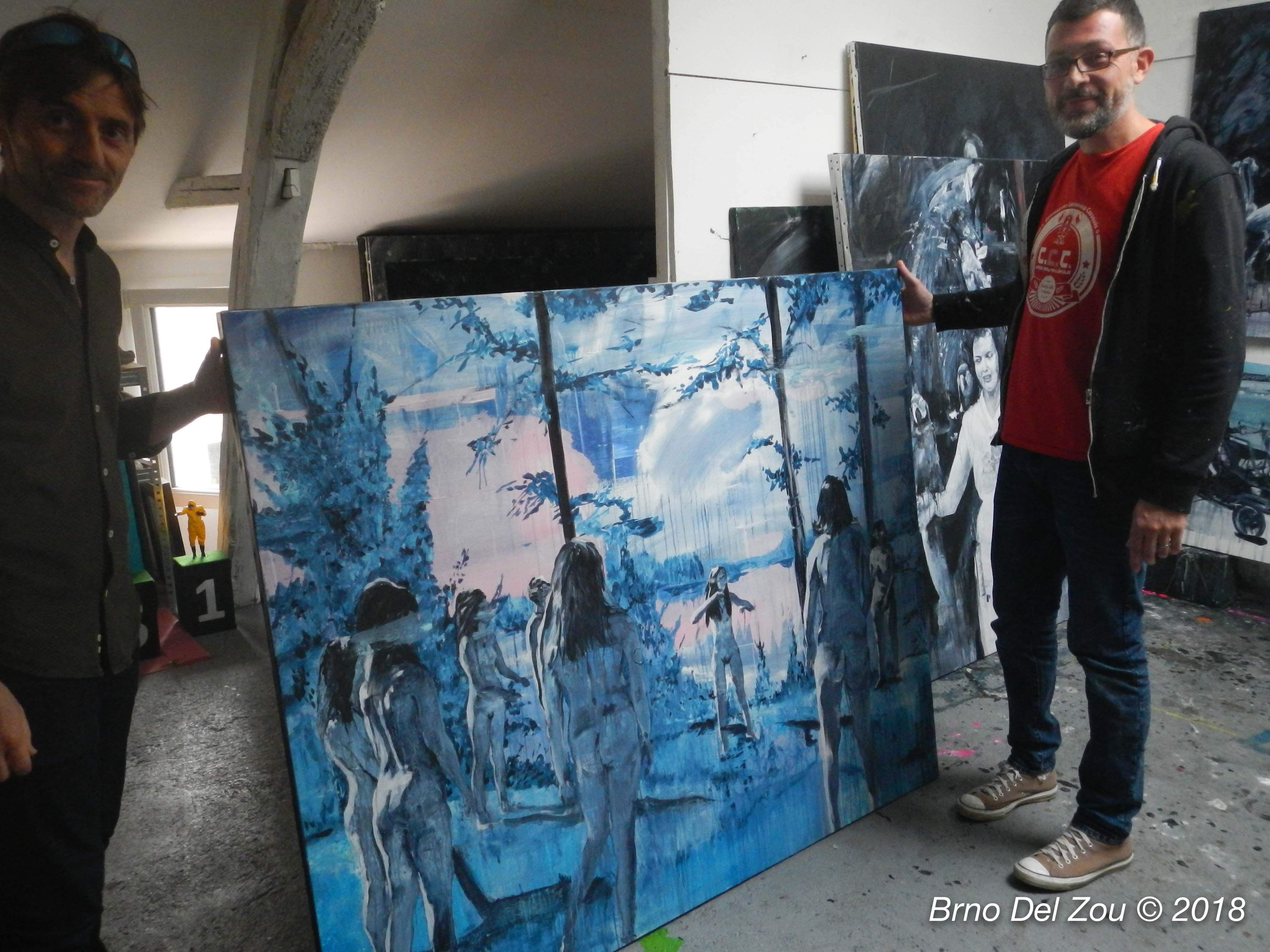 Fred Calmets dans son atelier