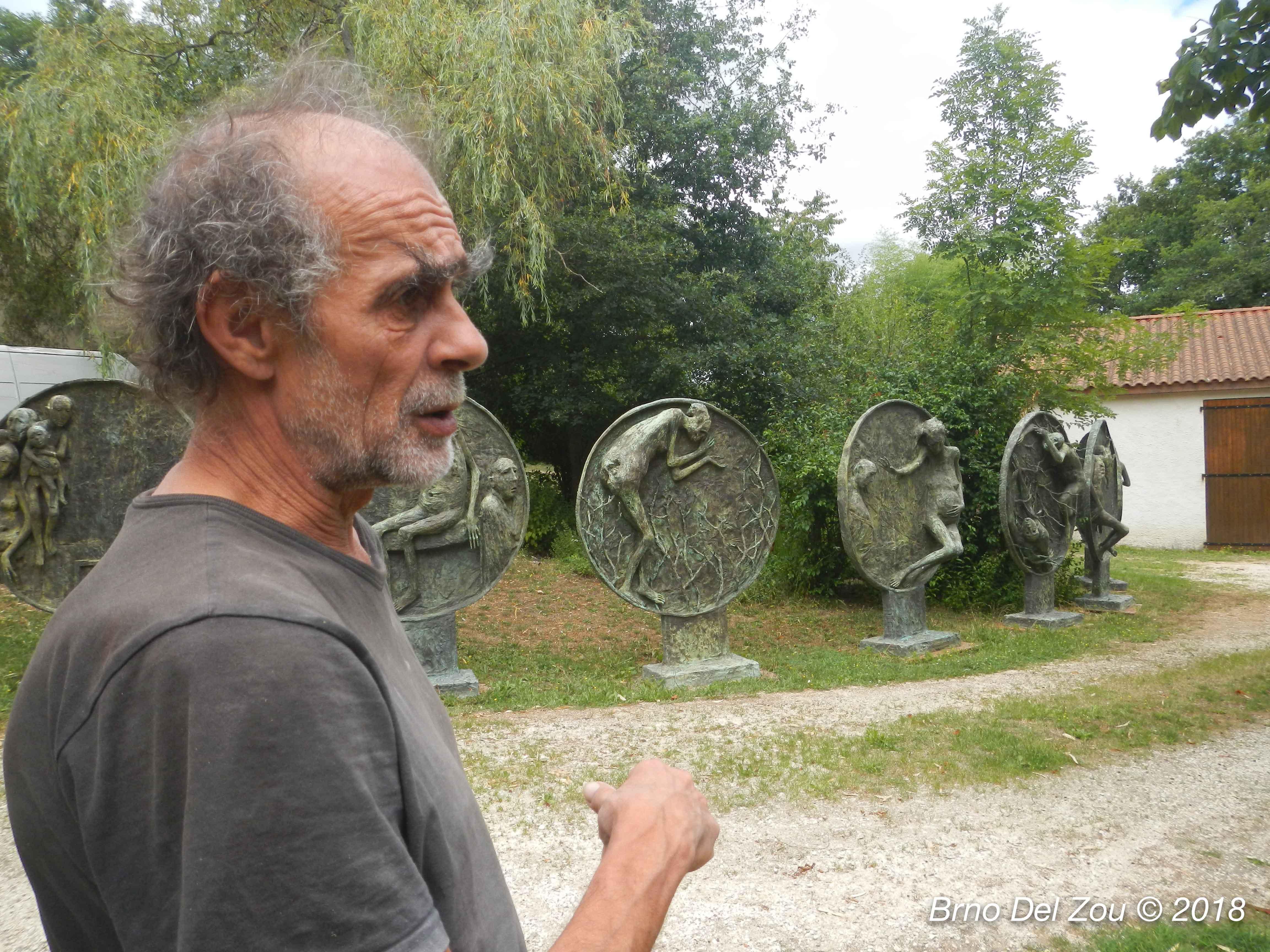 Visite de l'atelier de Marc Petit