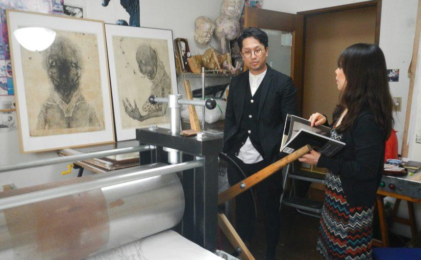 Visite atelier Toshihiko Ileda
